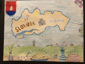 Slovakia Map Drawing