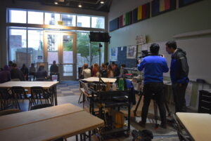 Newscasters Visit 7th Grade